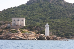 Италия. Сардиния.  Lighthouse of Capo dOrso.